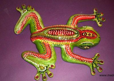 żaba w kropki