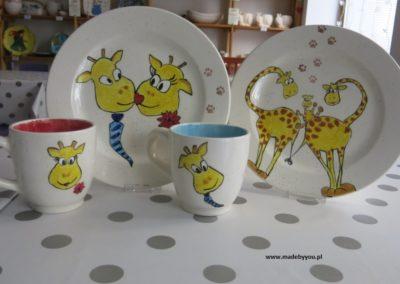 żyrafa na ceramice