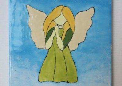 anioł na ceramice