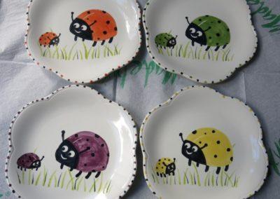 biedronki na ceramice