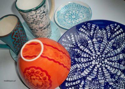 ceramika ręcznie malowana