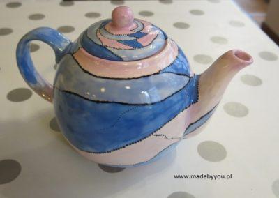 czajnik ręcznie malowany
