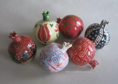 granaty z ceramiki