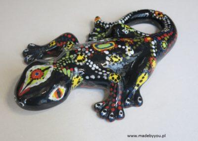 jaszczurka ręcznie malowana
