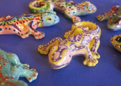 jaszczurki ceramiczne