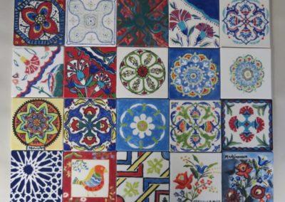 kafle we wzory tureckie