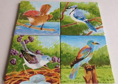 kafle z ptakami