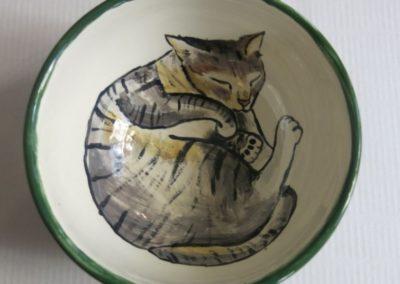 kot ręcznie malowany