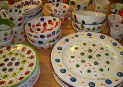 kropki na ceramice