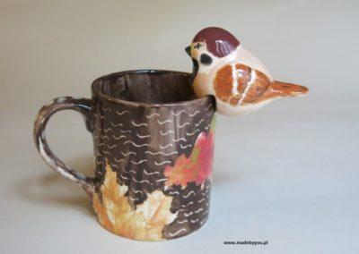 kubek z ptaszkiem