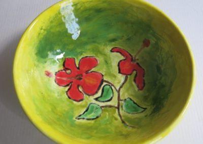 miska w kwiaty