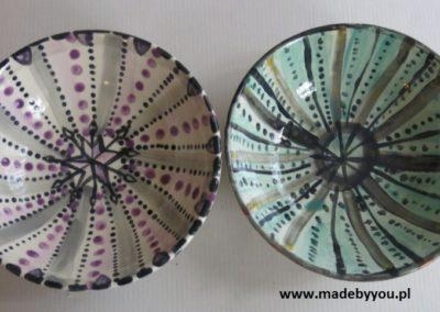 miski ręcznie malowane