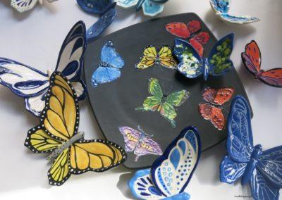motyle ceramiczne