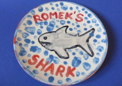 rekin ręcznie malowany