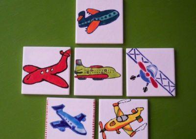 samoloty na ceramice
