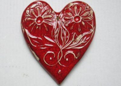 serce z gliny
