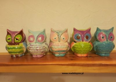sowa z ceramiki