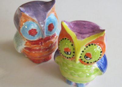 sowy ceramiczne