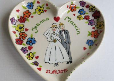 talerz na ślub