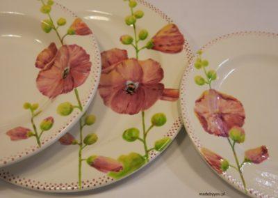 talerz w kwiaty