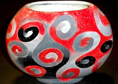wazon ręcznie malowane